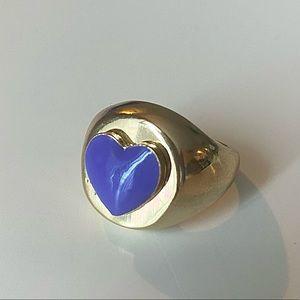 Purple Heart Enamel Ring